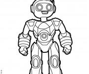 Coloriage dessin  Robots 11