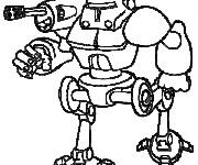 Coloriage dessin  Robots 16