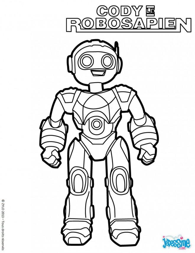 Coloriage Robots Cody Le Robosapien Dessin Gratuit A Imprimer