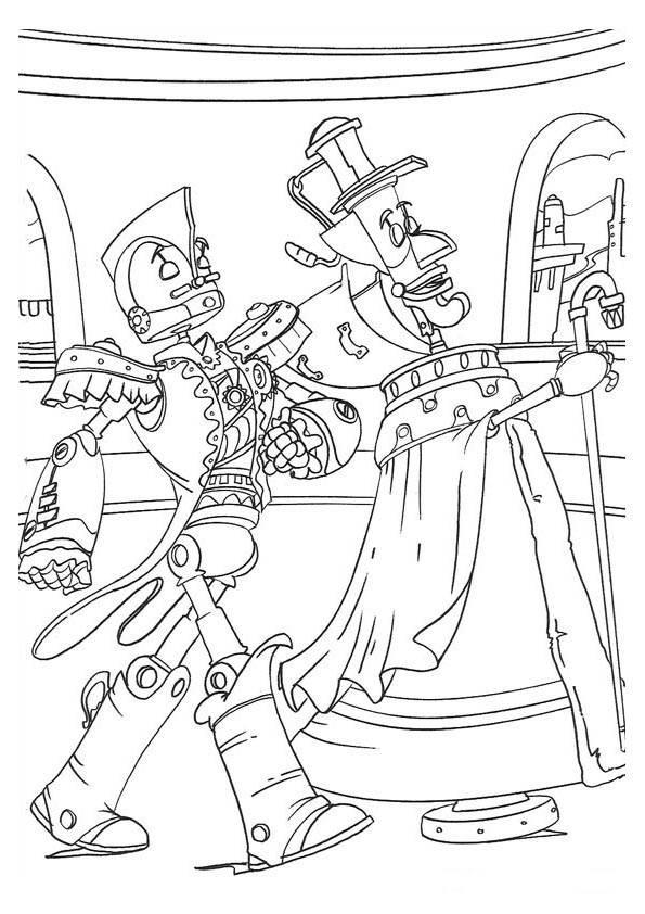 Coloriage et dessins gratuits Robots comiques à imprimer
