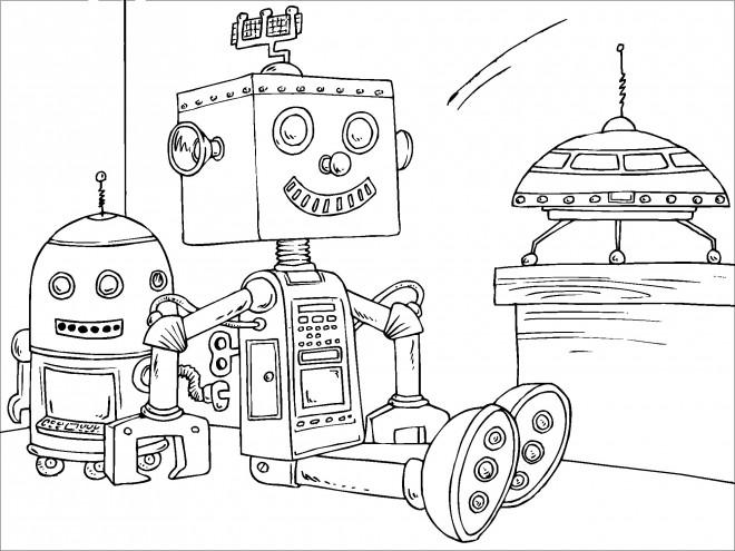 Coloriage et dessins gratuits Robots et Vaisseau Spatial à imprimer