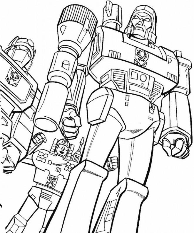 Coloriage et dessins gratuits Robots Géants de combat à imprimer