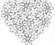 Coloriage et dessins gratuit Roses Saint-Valentin à imprimer