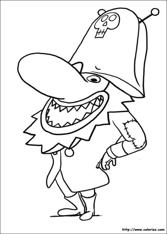 Coloriage et dessins gratuits Barbaféroce qui sourit à imprimer