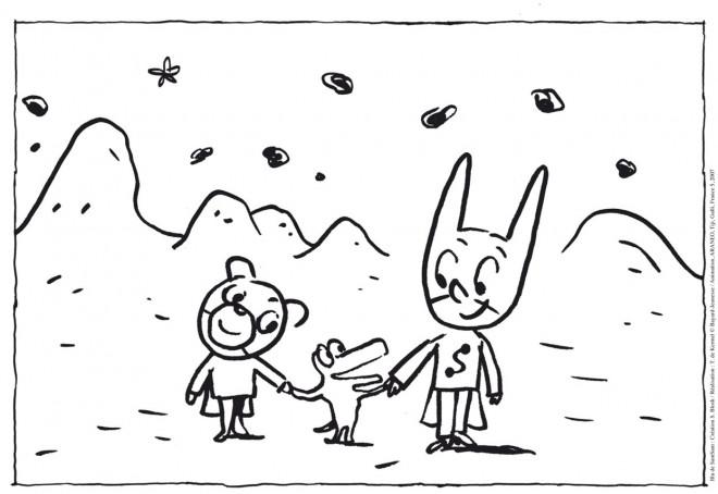 Coloriage et dessins gratuits Le petit Samsam sur Une Planète à imprimer