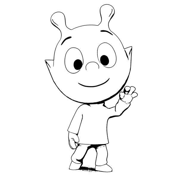 Coloriage et dessins gratuits Petit Pôa en souriant à imprimer