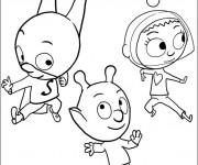 Coloriage et dessins gratuit Samsam amusé avec Les Amis à imprimer