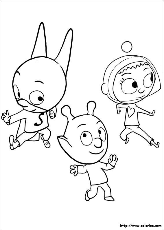 Coloriage et dessins gratuits Samsam amusé avec Les Amis à imprimer