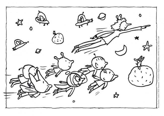 Coloriage et dessins gratuits Samsam cosmonaute à imprimer