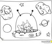 Coloriage et dessins gratuit Samsam dans L'univers à imprimer