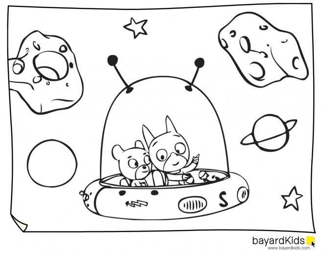 Coloriage et dessins gratuits Samsam dans L'univers à imprimer