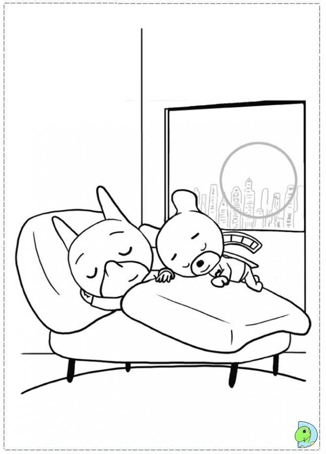 Coloriage et dessins gratuits Samsam dans sa chambre à imprimer