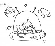 Coloriage et dessins gratuit Samsam en Ligne à imprimer