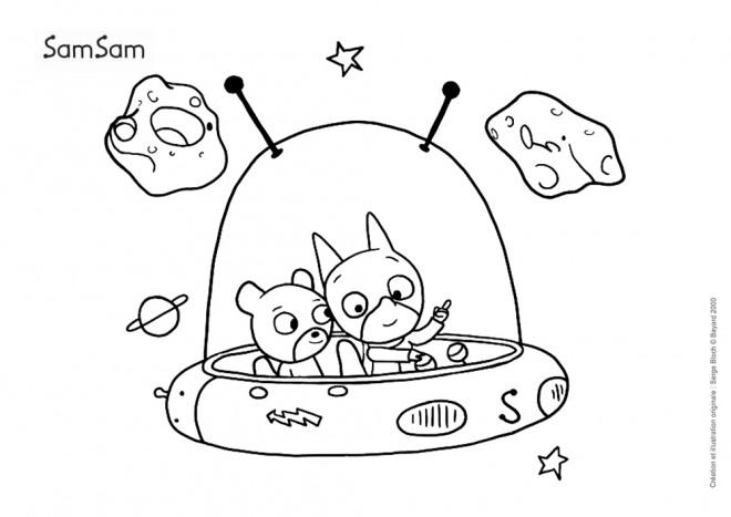 Coloriage et dessins gratuits Samsam en Ligne à imprimer