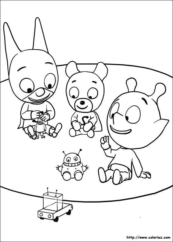 Coloriage et dessins gratuits Samsam en train de jouer à imprimer