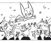 Coloriage et dessins gratuit Samsam en vol à imprimer