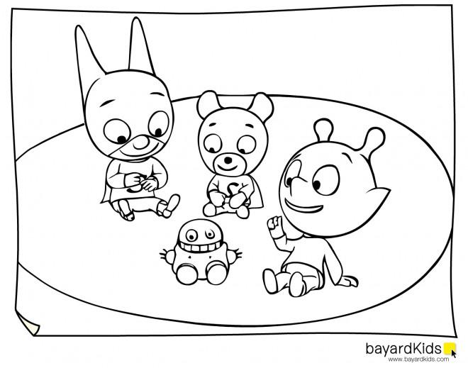 Coloriage et dessins gratuits Samsam et ses amis à imprimer
