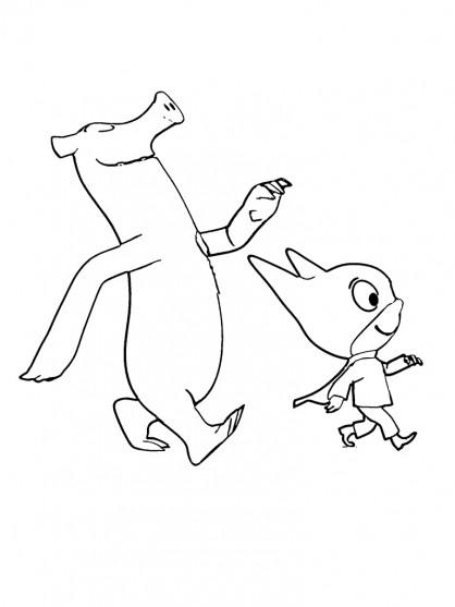 Coloriage et dessins gratuits Samsam et son ami Crapouille à imprimer