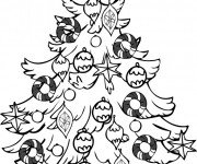 Coloriage Adorable Sapin de Noël