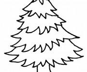 Coloriage Arbre Sapin de Noël à découper
