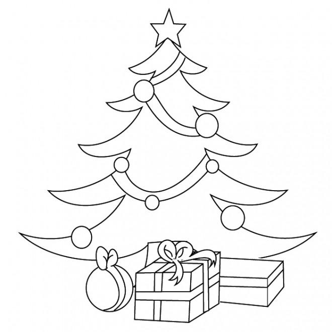 coloriage cadeaux et sapin de no l dessin gratuit imprimer. Black Bedroom Furniture Sets. Home Design Ideas