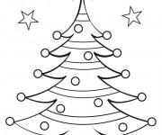 Coloriage et dessins gratuit Gabarit de Sapin de Noël à imprimer