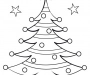 Coloriage Gabarit de Sapin de Noël