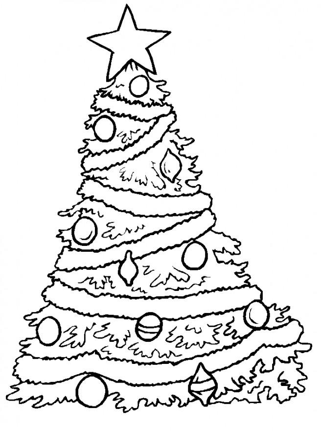 Coloriage et dessins gratuits Les Lampes sur le Sapin de Noël à imprimer