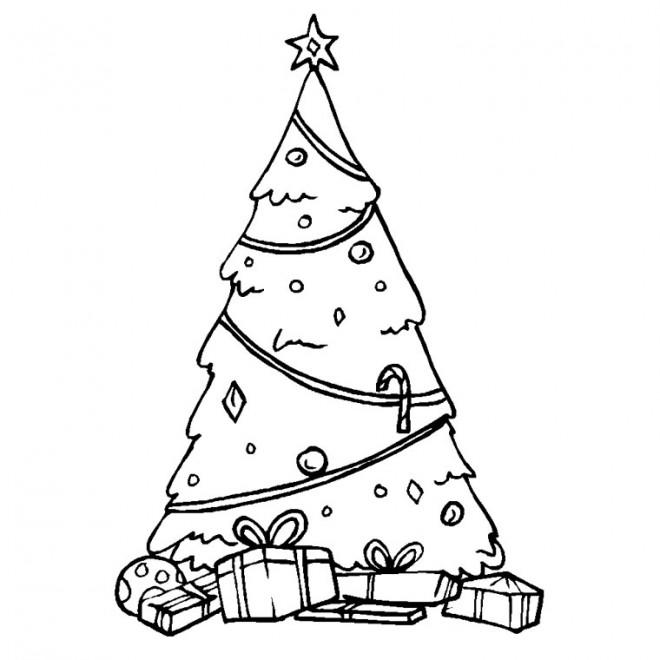 Coloriage et dessins gratuits Noël et Arbre Sapin à imprimer