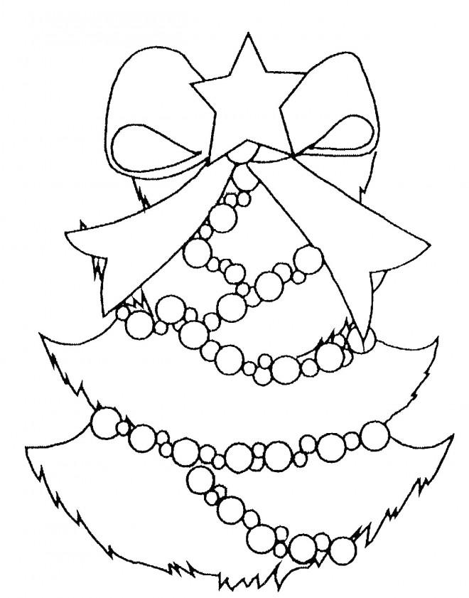 Coloriage et dessins gratuits Noeud Sapin de Noël à imprimer