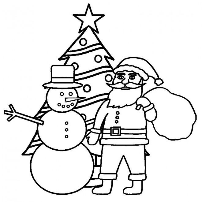 Coloriage Sapin de Noel gratuit à imprimer
