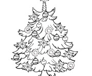 Coloriage Petit Sapin de Noël