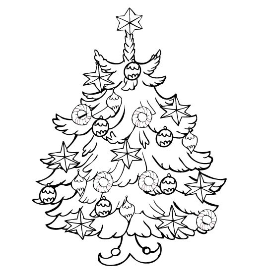 Coloriage et dessins gratuits Petit Sapin de Noël à imprimer