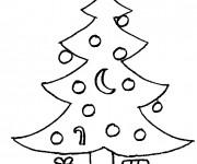 Coloriage dessin  Sapin de Noel 13