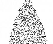 Coloriage dessin  Sapin de Noel 4