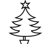 Coloriage dessin  Sapin de Noel 5