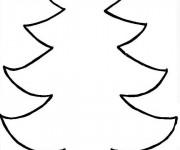 Coloriage et dessins gratuit Sapin de Noël à compléter à imprimer