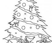 Coloriage et dessins gratuit Sapin de Noël à découper à imprimer