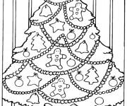 Coloriage et dessins gratuit Sapin de Noël à La Maison à imprimer