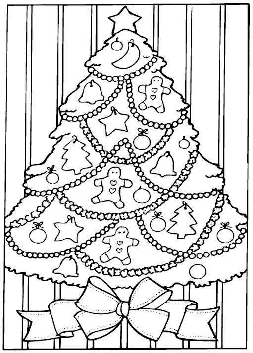 Coloriage Sapin De Noel A La Maison Dessin Gratuit A Imprimer