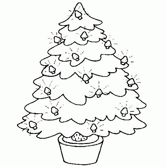 Coloriage et dessins gratuits Sapin de Noël accessible à imprimer