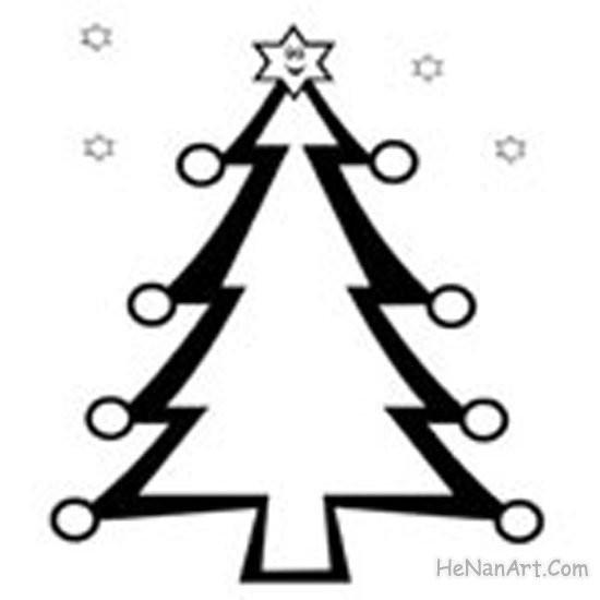 Coloriage et dessins gratuits Sapin de Noël artistique à imprimer
