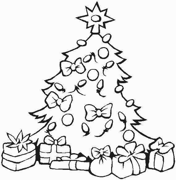 Coloriage et dessins gratuits Sapin de Noël décoration à imprimer