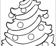 Coloriage Sapin de Noël décoré en étoile