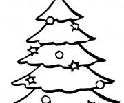 Coloriage Sapin de Noël éclairé