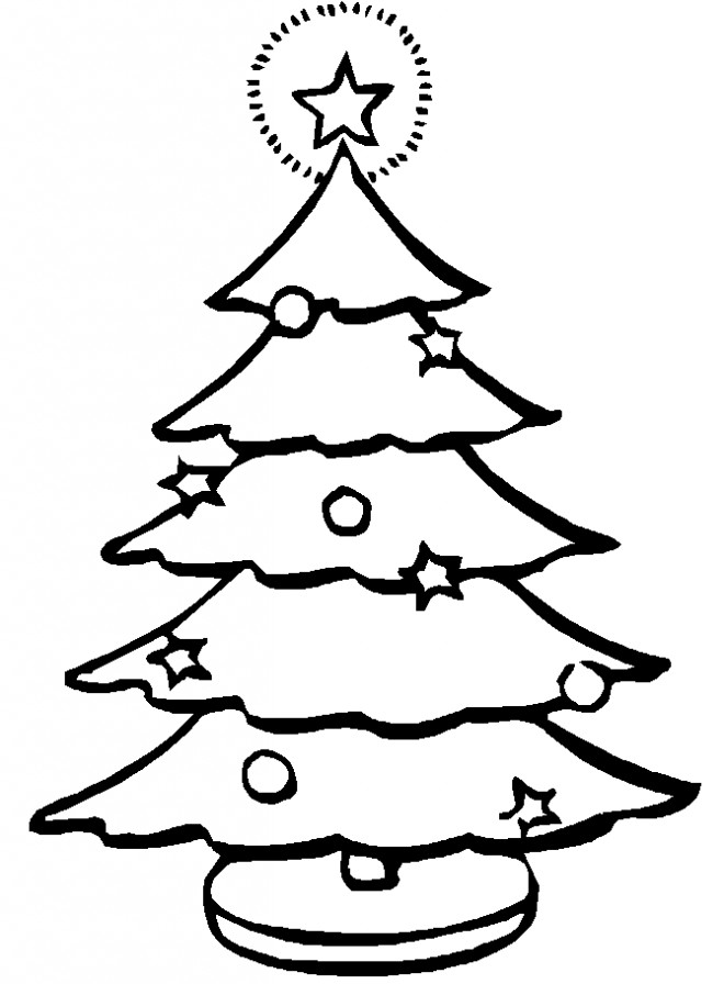 Coloriage et dessins gratuits Sapin de Noël éclairé à imprimer