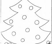 Coloriage Sapin de Noël en Blanc