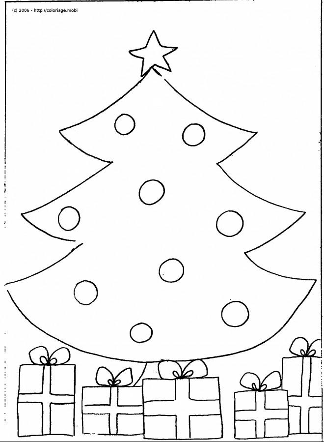 Coloriage et dessins gratuits Sapin de Noël en Blanc à imprimer