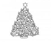Coloriage Sapin de Noël en Chandelles