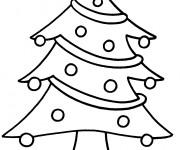 Coloriage et dessins gratuit Sapin de Noël en couleur à imprimer